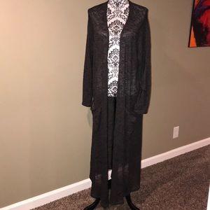 LulaRoe Ankle Length Duster Cardigan Knit Sweater